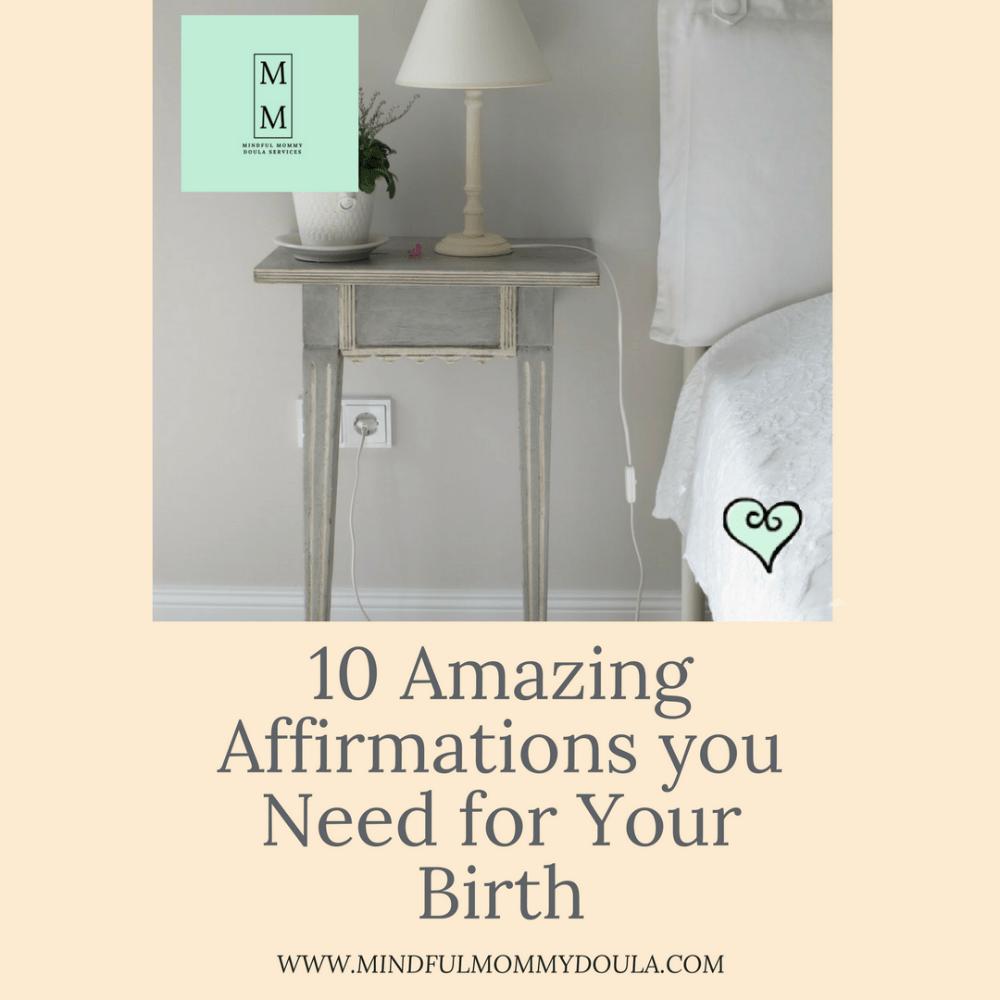 10 Amazing Birth Affirmations-blog